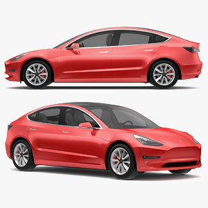 3D tesla modeled s