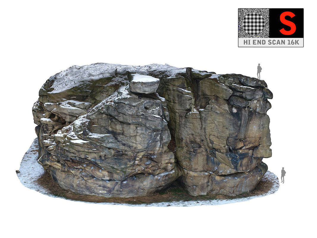 3D witch s rock winter model