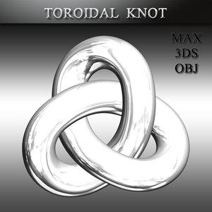 3D toroidal knot
