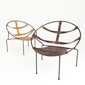 fdc1 armchair chair 3D model