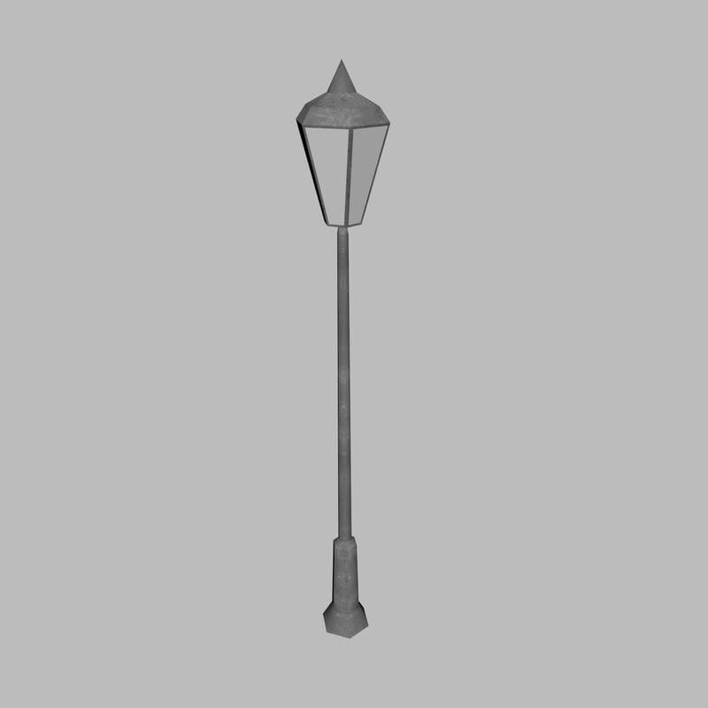 3D model lamppost games light