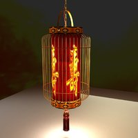 3D lighting lantern chinese red