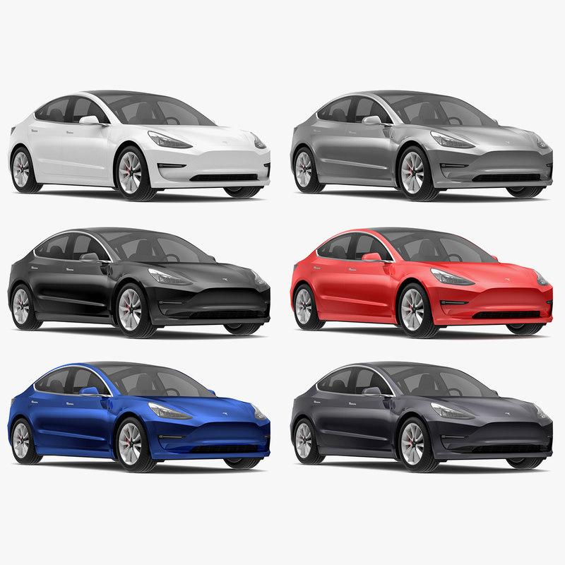 Tesla 3 Modeled S Model