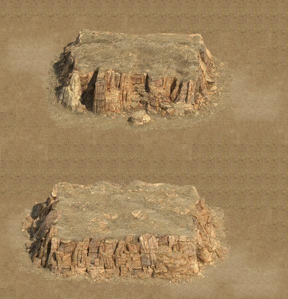 3D mountain rock stones model