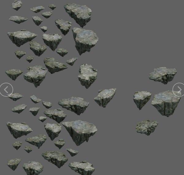 3D mountain rock stones