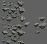 3D mountain rock stones