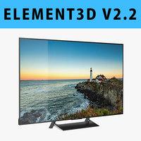 E3D - Sony X900E TV 3D model