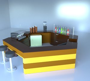 coffee shop 3D model
