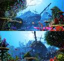 3D cartoon underwater rigged animation