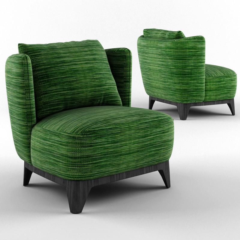 sits alma arm chair 3D model