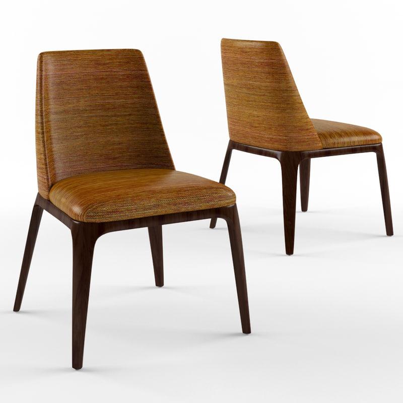 grace chair poliform 3D model