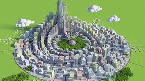futuristic city 3D