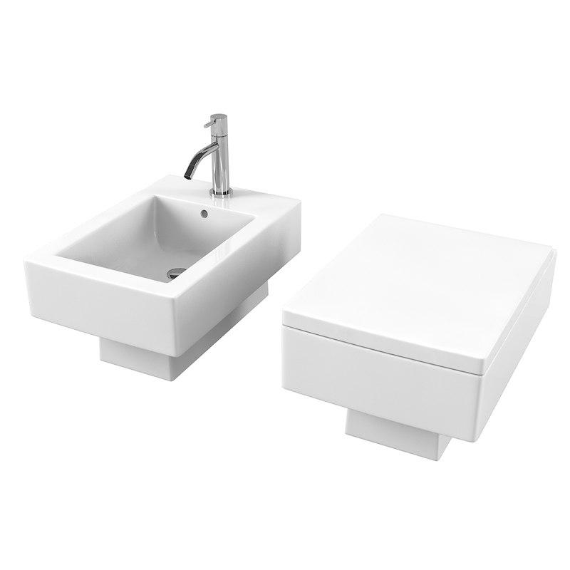 duravit vero 223915 toilet 3D model