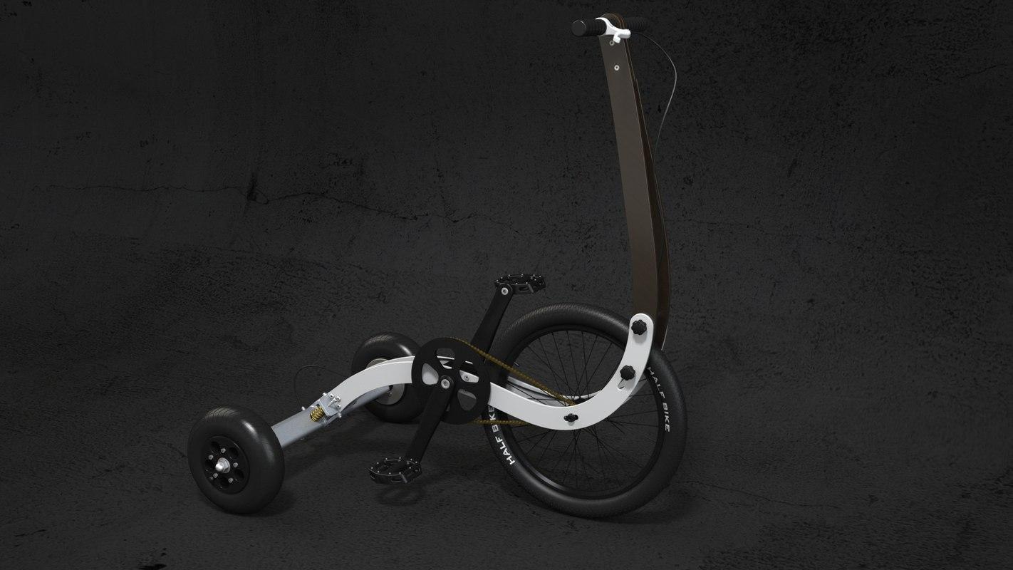 bike halfbike 3D model