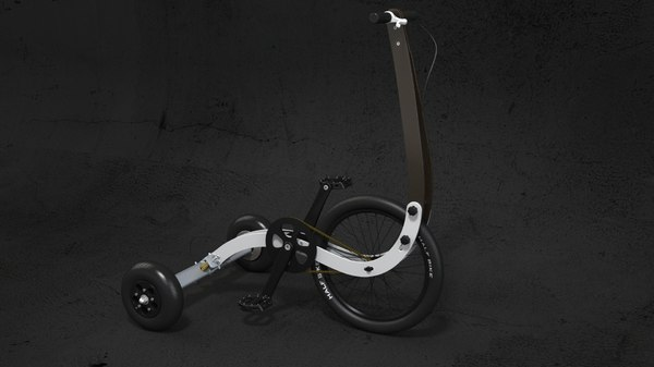 bike halfbike 3D model