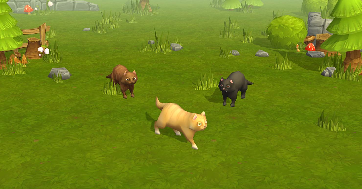 3D model animals pet farm