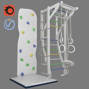 3D model children s sports complex