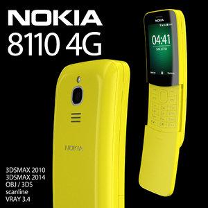 3D nokia 8110 4g phone model