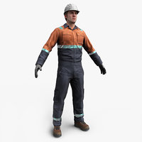 Construction Worker Low Poly