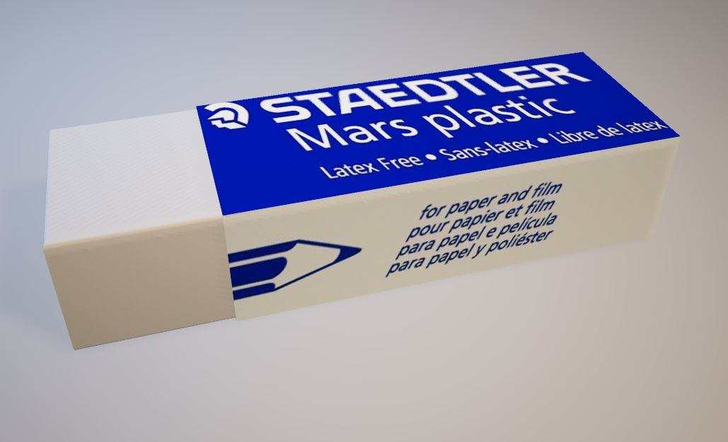 eraser modeled 3D model