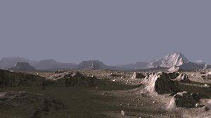3D model environment shi-fi scene