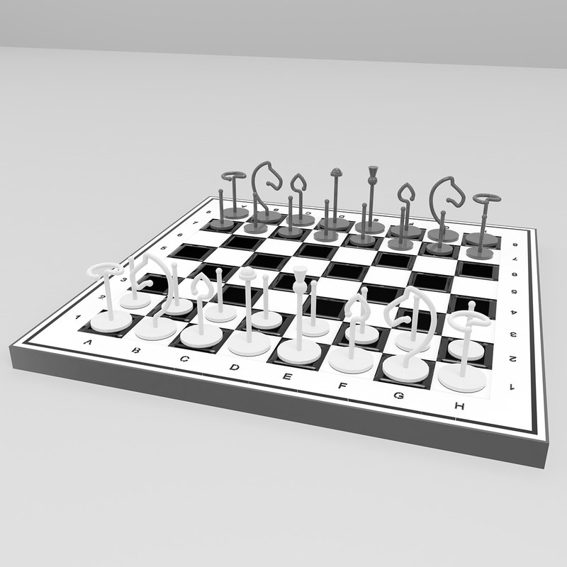 chess metal 3D model