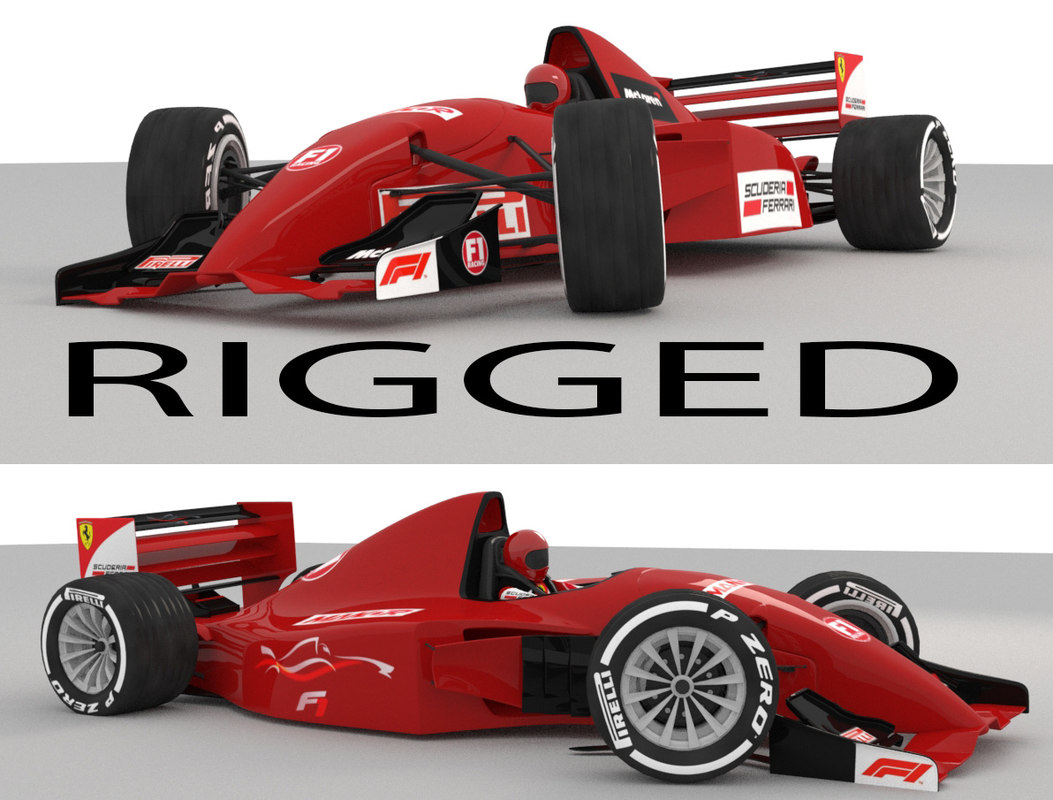 car rigged 3D
