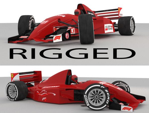 car rigged 3D