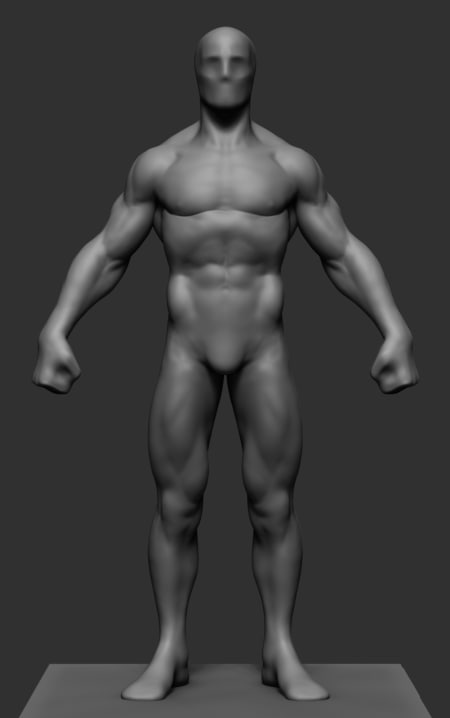superhero body 3D model