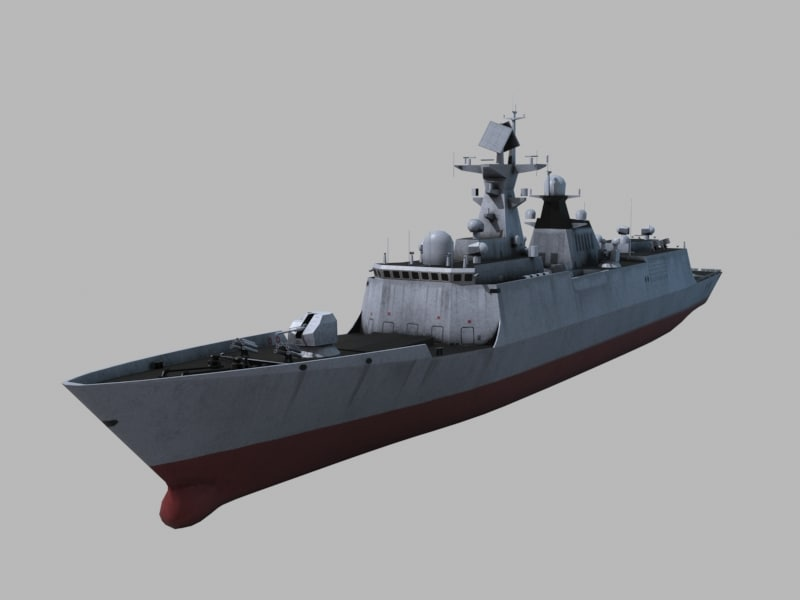 warship chinese navy 3D model