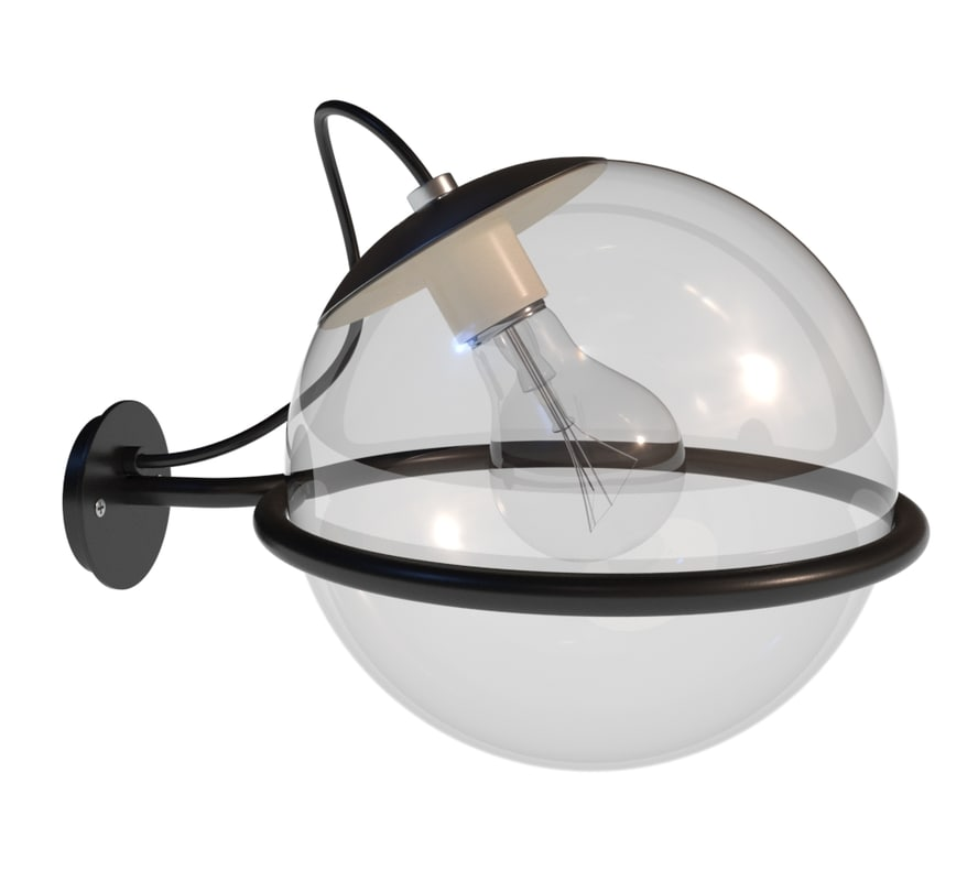 3D model wall light globe