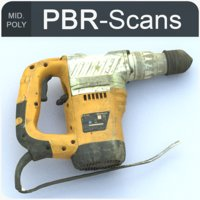 3D perforator pbr scans model