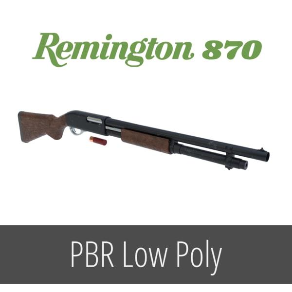classic remington 870 shotgun 3D model