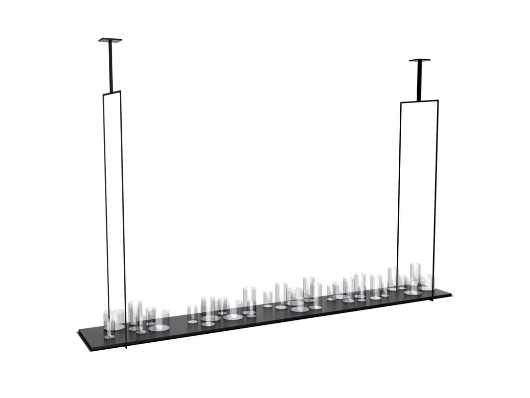 3D model lamp altar