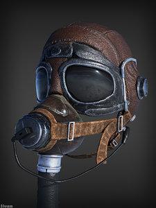 ww2 pilot helmet 3D