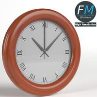 wall clock living room 3D model