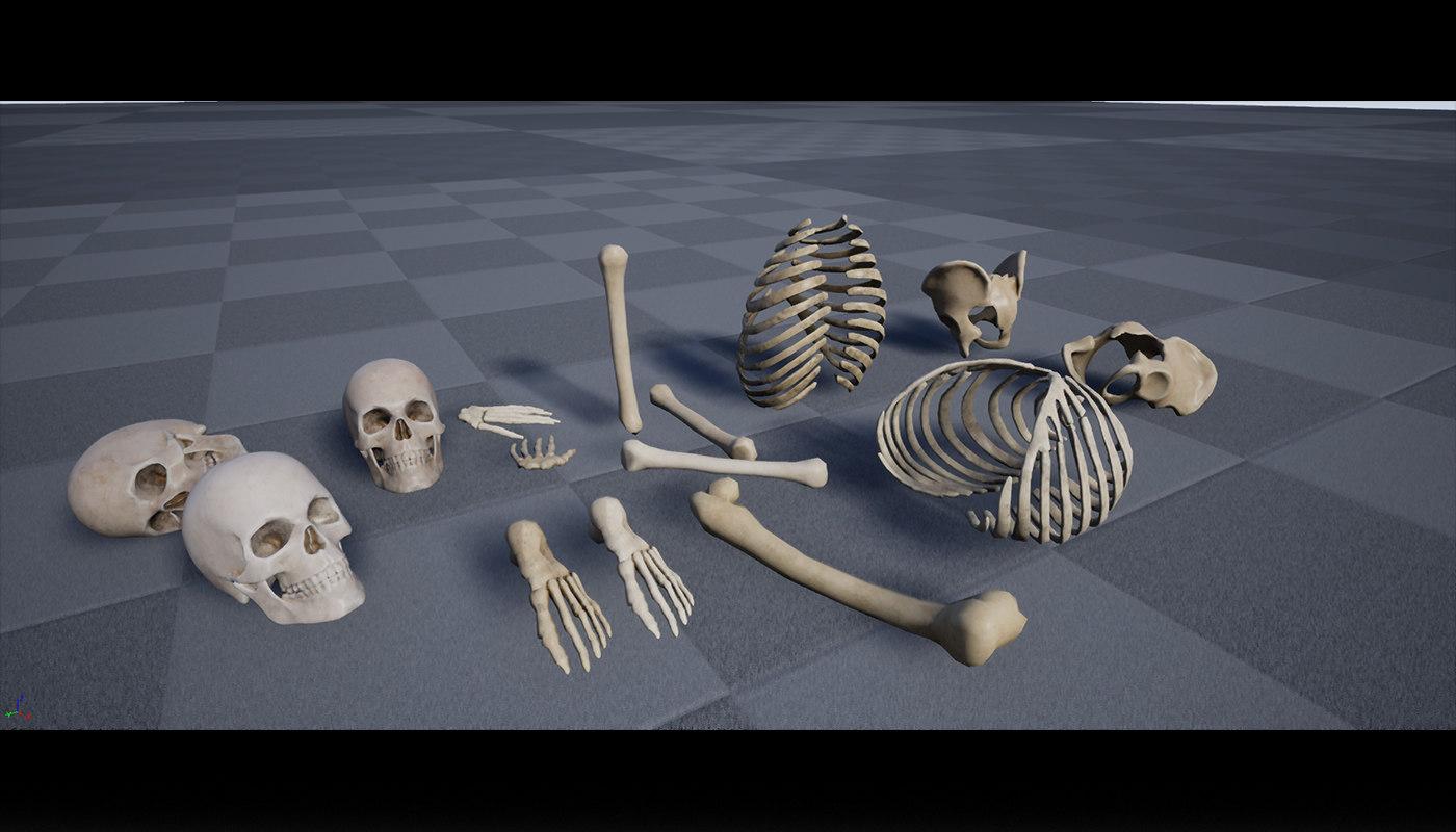 3D pack skull