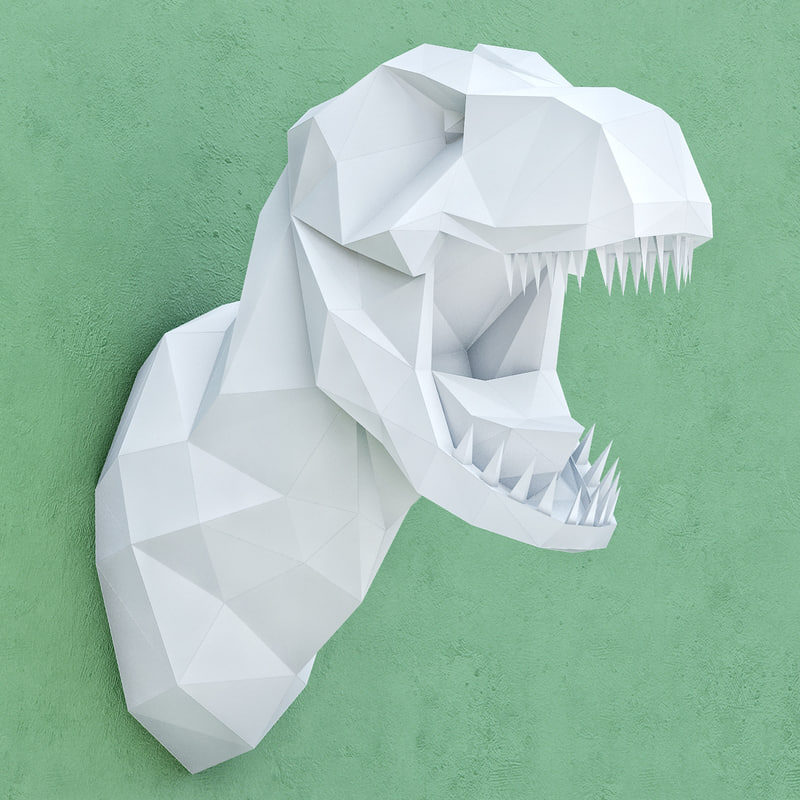 polygonal paper dinosaur 3D model