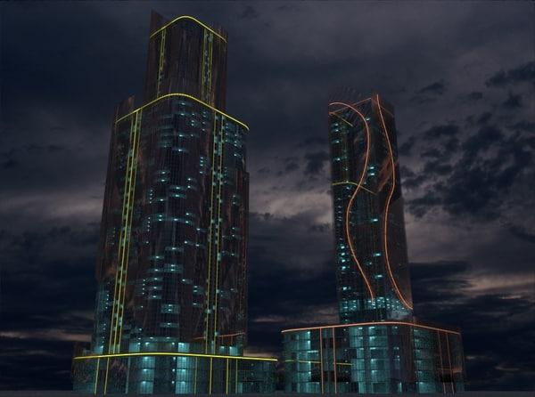 3D skyscraper 9 model