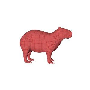 3D base mesh capybara