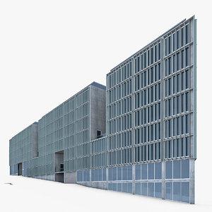 modern office building exterior 3D model