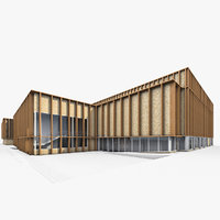 3D sport building exterior