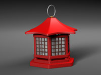 japanese lantern 3D
