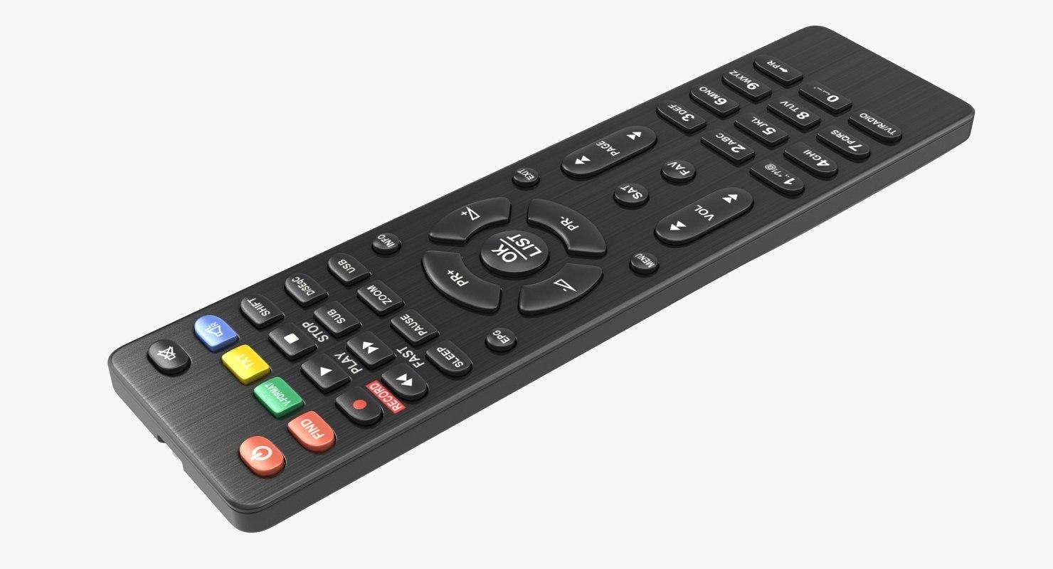 3D black remote control