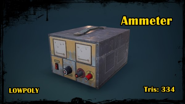 ammeter 3D model