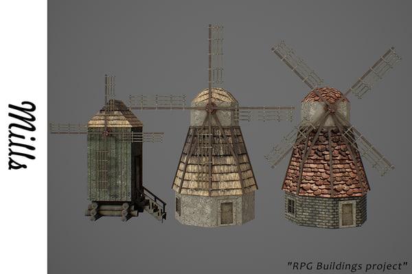 medieval buildings 3D