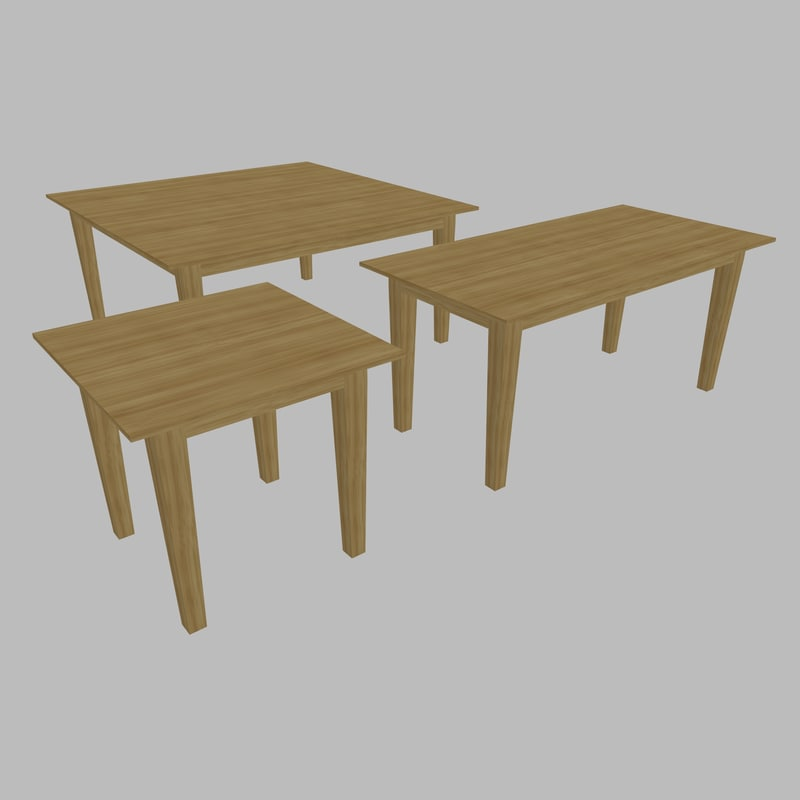 table - size 3D model