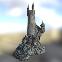 fantasy wizard s tower building 3D model