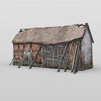 3D derelict barn daz studio