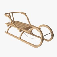 3D wooden sleigh